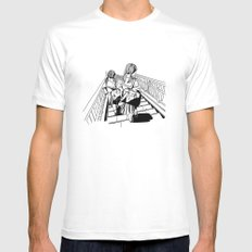 Japanese School Girls  Mens Fitted Tee White SMALL