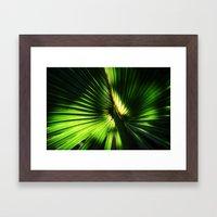The green glow  Framed Art Print