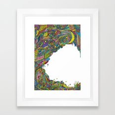 Night sky to look from the cave Framed Art Print