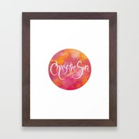 Chase The Sun  Framed Art Print