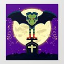Dead Night Vampire Canvas Print