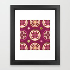 Ethnic Circles Framed Art Print