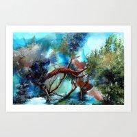 Yeri Kucaklayan Renkler Art Print