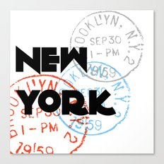 New York Typography Canvas Print