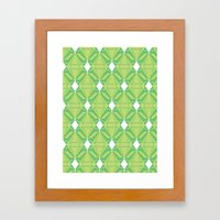 Abstract [GREEN] Emeralds Framed Art Print