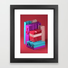 Typographic Insults #8 Framed Art Print