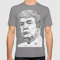 Donald Trump Mens Fitted Tee Tri-Grey SMALL