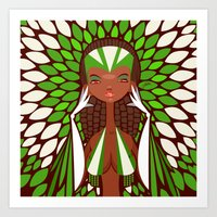 FIFA 2014 Samba Girls Series: Nigeria Art Print