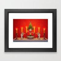The Little Christmas Tre… Framed Art Print