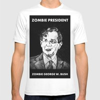 43. Zombie George W. Bus… Mens Fitted Tee White SMALL