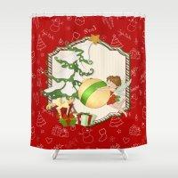 Fairy Merry Christmas Shower Curtain