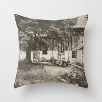 Down The Road, Around Th… Throw Pillow
