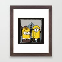 Minion Gothic Framed Art Print