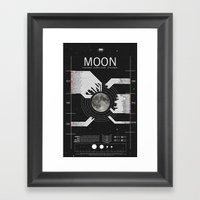 OMG SPACE: Moon 1970 - 2… Framed Art Print