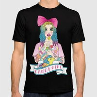 Candy Girl Mens Fitted Tee Black SMALL