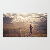 Whit On Top Of The World Canvas Print