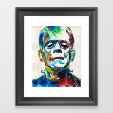 Frankenstein Art - Colorful Monster - By Sharon Cummings Framed Art Print