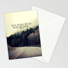 WINDING ROADS ON HWY 101  Stationery Cards