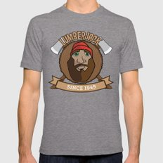 Lumberjack Since 1949 Mens Fitted Tee Tri-Grey SMALL