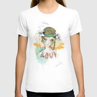 War girl Womens Fitted Tee White SMALL