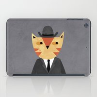 Ginger Cat in a Bowler Hat iPad Case