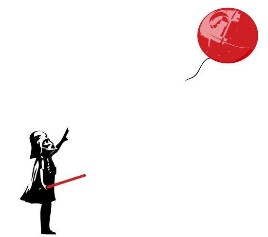 That's No Banksy Balloon (It's a Space Station) Art Print