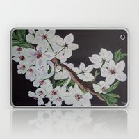 white blossoms Laptop & iPad Skin