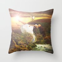fall to grace Throw Pillow