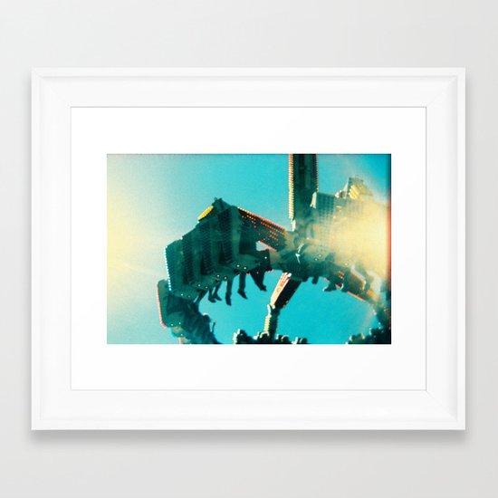 Oaks Park - Holga Series Framed Art Print