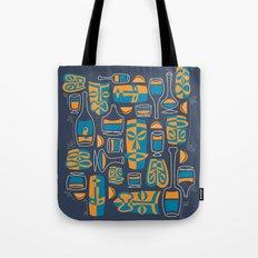 Tiki/Cocktail Pattern Tote Bag