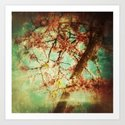 Vintage Abstract Blossom Art Print
