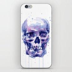 Skull Watercolor iPhone & iPod Skin