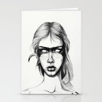 Nocturnal Warrior Sketch Stationery Cards