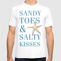 Sandy Toes And Salty Kis… Mens Fitted Tee White SMALL