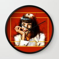 Mia Thurman Wall Clock