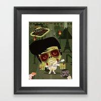 Elvis Zombie Framed Art Print