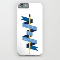 iPhone & iPod Case featuring Keep It Simple by Elliot Hindes