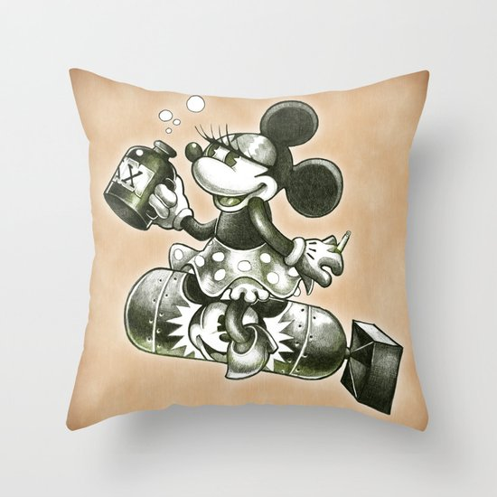 BOMBS AWAY Throw Pillow