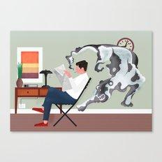 Dark Smoke Canvas Print