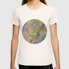 Pastel Blue and Green Botanical Womens Fitted Tee Natural SMALL