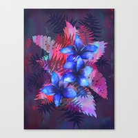 TROPICAL FLOWER {blue plumeria}  Canvas Print