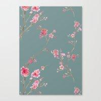 2016 Calendar Print - Cherry Blossoms Canvas Print