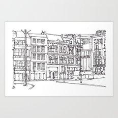 Sandhill, Newcastle Upon Tyne Art Print