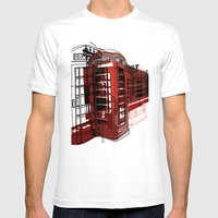 Phone Box Mens Fitted Tee White SMALL