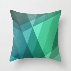 Fig. 046 Mint, Sea Green, Blue & Teal Geometric Throw Pillow