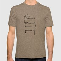 Quit being a pussy Mens Fitted Tee Tri-Coffee SMALL
