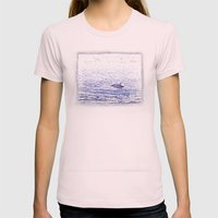 Dolphin Leap Womens Fitted Tee Light Pink SMALL
