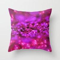 Electric Shine Throw Pillow