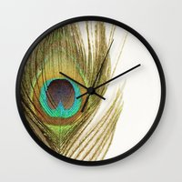 Peacock Feather Wall Clock
