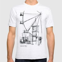 London Eye Mens Fitted Tee Ash Grey SMALL